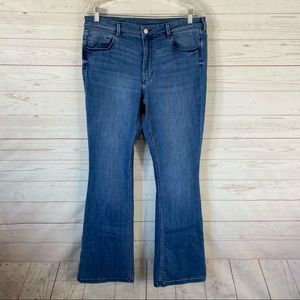 H&M &Denim Mini Flare High Waist Jeans 32x33